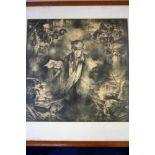 Print 'Watersnoodramp' 58x59 cm niet gesigneerd