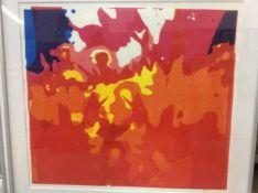 Franssen (?) 'Modern werk 2' lithografie, ges. 45x50cm