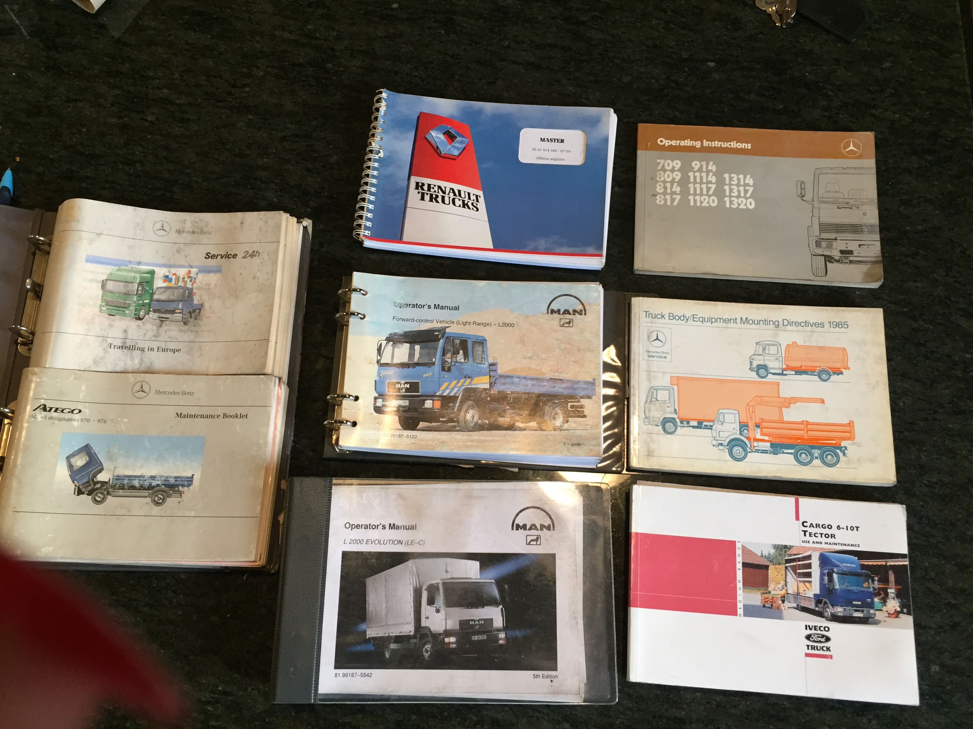Mercedes Atego 970-976 Owners Handbook Manual and Pack