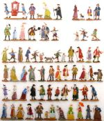 17./18. Jahrhundert, Straßenleben, auch Zuschauer für Parade, verschiedene Hersteller, gute bis sehr
