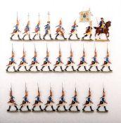 Preußen um 1760, Bataillon Grenadier-Garde v. Retzow Nr. 6 im Gefechtsmarsch, Kiel, gute,