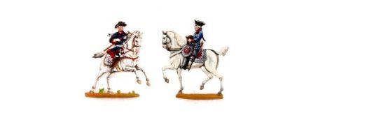 Preußen um 1760, Friedrich II. auf sprengendem Pferd nach Camphausen, Lecke; Friedrich zu Pferd nach