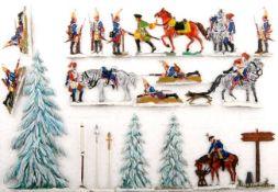 Preußen um 1757, Winter-Feldlager, Scholtz und Neckel, gute und sehr gute, schattierte Bemalung,