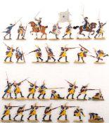 Preußen um 1760, Regiment Garde Nr. 15, 3. Bataillon im Dorfgefecht, verschiedene Hersteller,