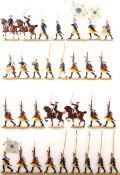 Preußen um 1760, Bataillon Grenadier-Garde v. Retzow Nr. 6 vorgehend, meist Scholtz und Kiel,