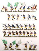 Preußen um 1760, Infanterie-Rgt. v. Knobloch Nr. 10, Angriffs-Peloton, meist Grünewald, gute,
