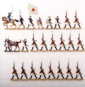 Preußen um 1760, Musketiere vom Infanterie-Rgt. v. Winterfeldt Nr. 1 im Marsch, verschiedene