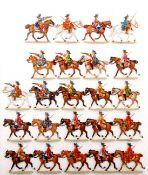 Brandenburg-Schwedischer Krieg 1674-79, brandenburgische schwere Reiter im Gefecht, Kiel, sehr gute,