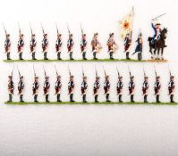 Preußen um 1760, Musketiere vom Infanterie-Rgt. v. Winterfeldt Nr. 1 im Halt, Scholtz, saubere,