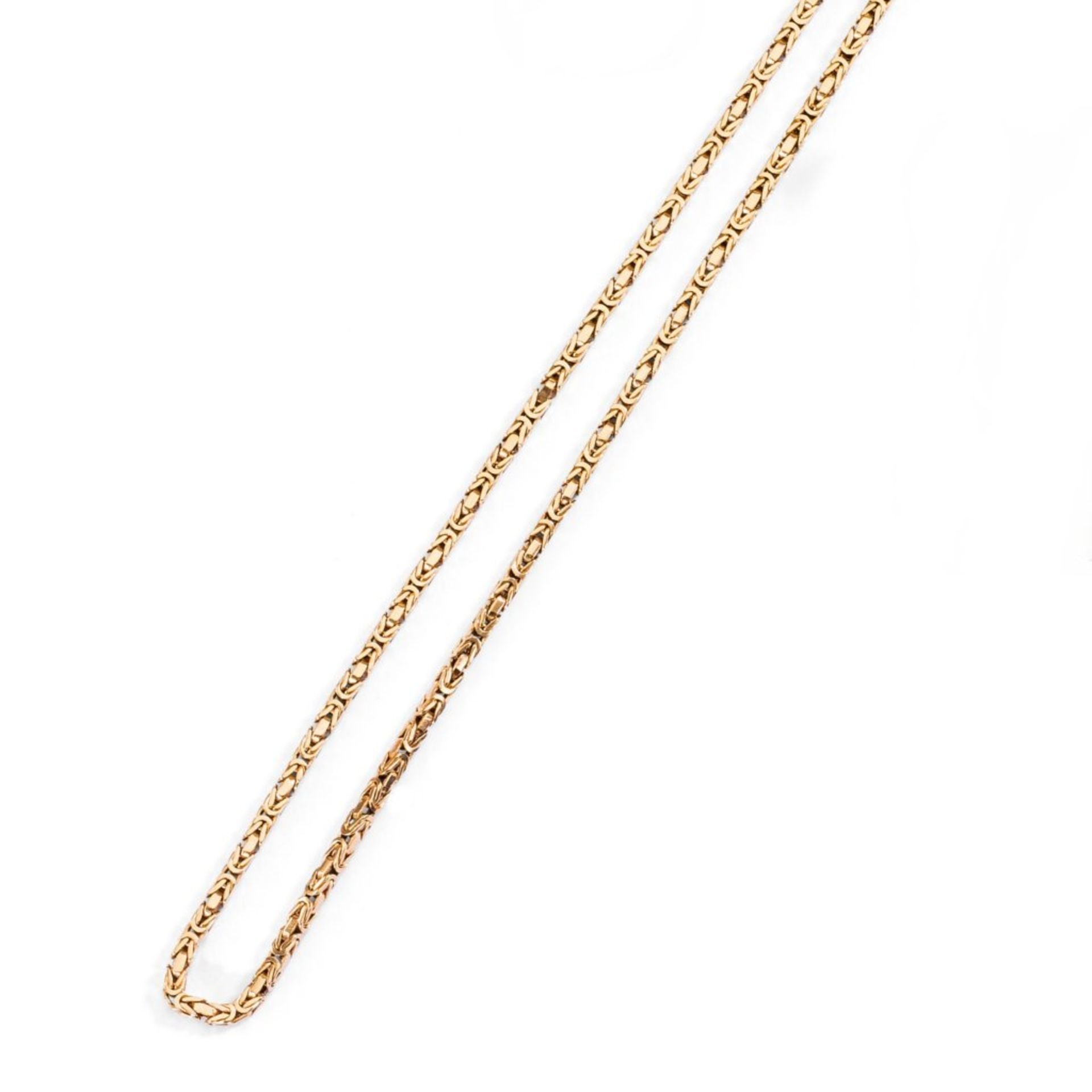 Goldene Königskette. 14 ct. RG, 60 g. L 84 cm