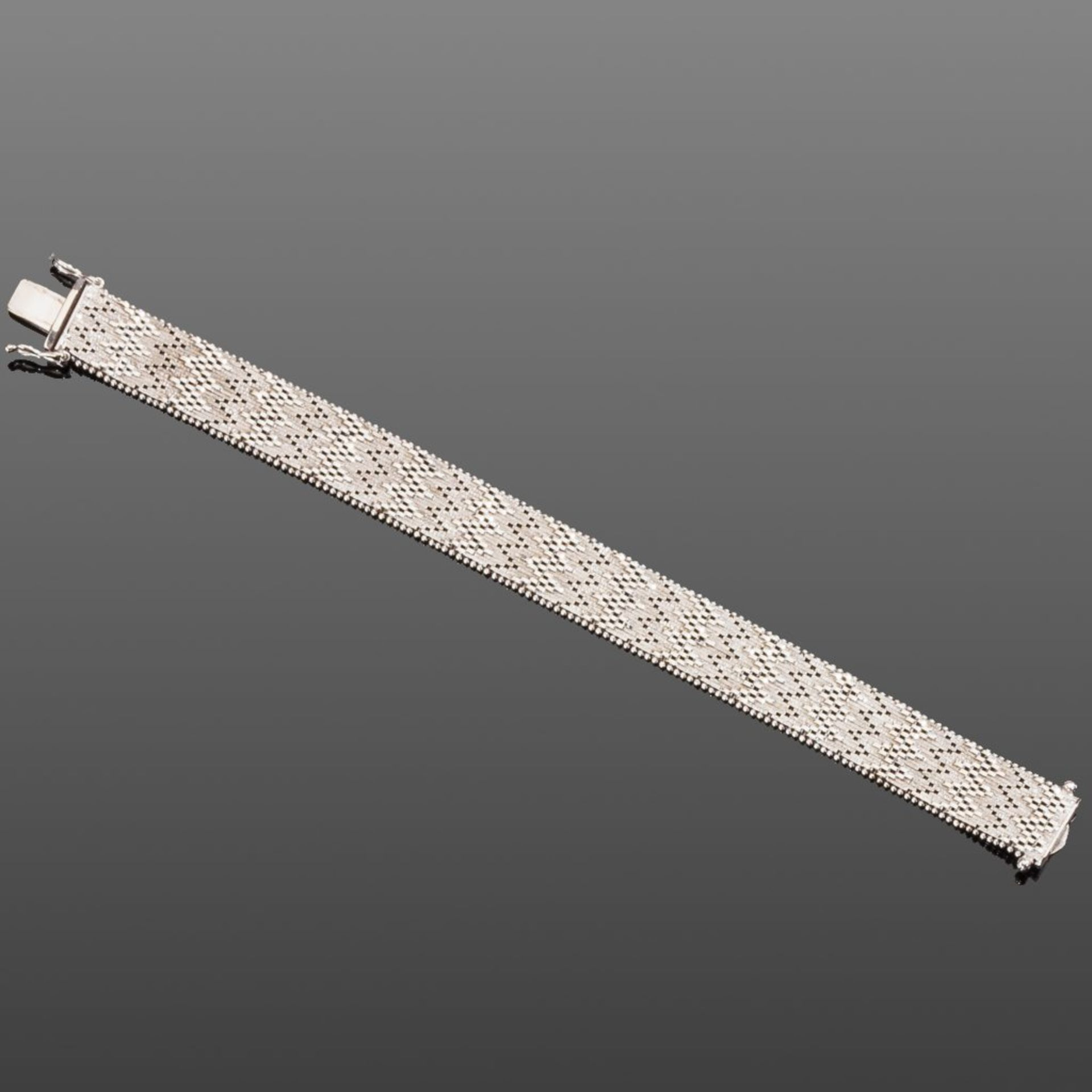 Weißgold-Armband. 14 ct. 40 g. L 17,2 cm
