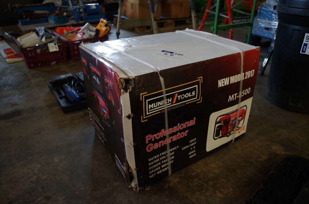 Munich tools generator mt8500 boxed and unused no vat for Generatore nutool