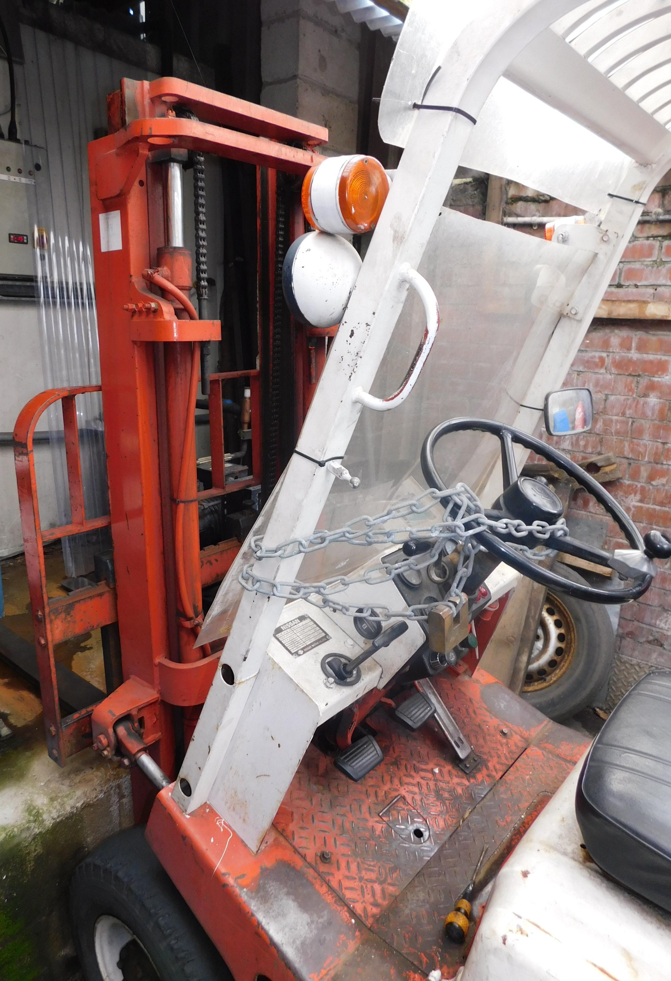 Nissan QF01 A15U Diesel Powered Counter Balance Fork Lift ...