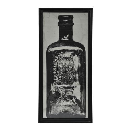 Lot 53 - Graphics Copper Bottle Art Work 1 in Black Wood Frame 59 X 3 X 130 5cm