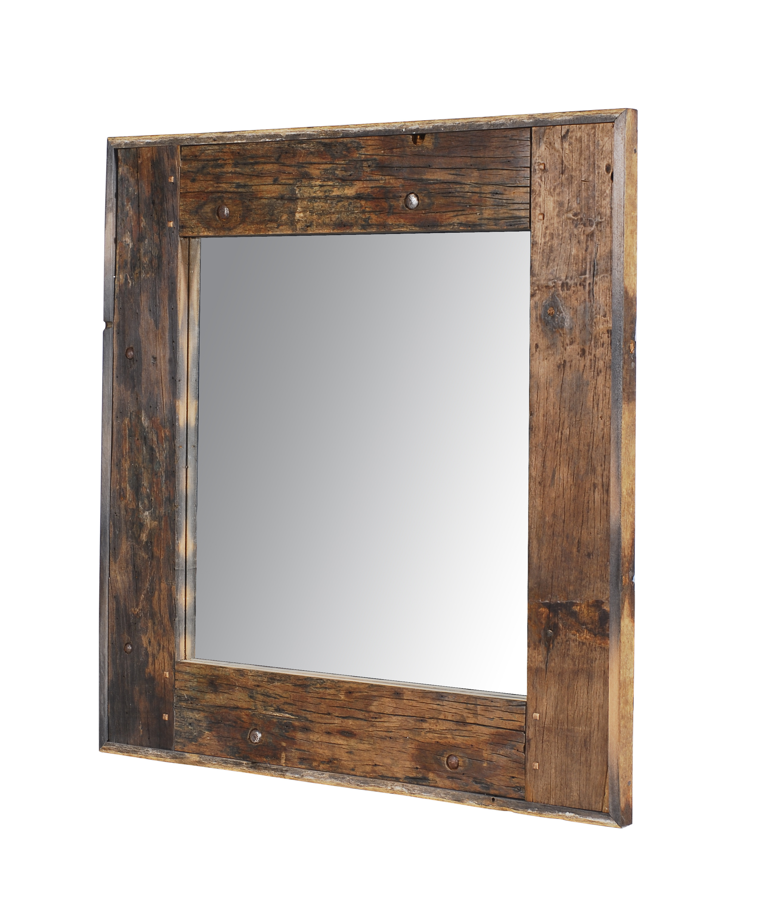 Lot 103 - Axel Mirror The Axel Mirror Crosses Old World And Industrial With Its Combination of Reclaimed