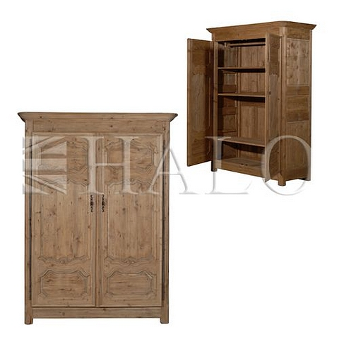 Lot 22 - French Farmhouse Armoire Genuine English Reclaimed Timber 170 X 68 X 224cm