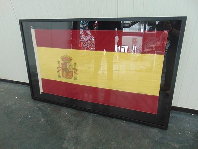 Lot 48 - Flag Medium Shadow Box Spain 150 X 6 X 90cm