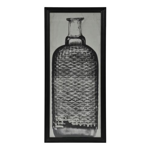 Lot 57 - Graphics Copper Bottle 2 Black Wood 59 X 3 X 130.5cm