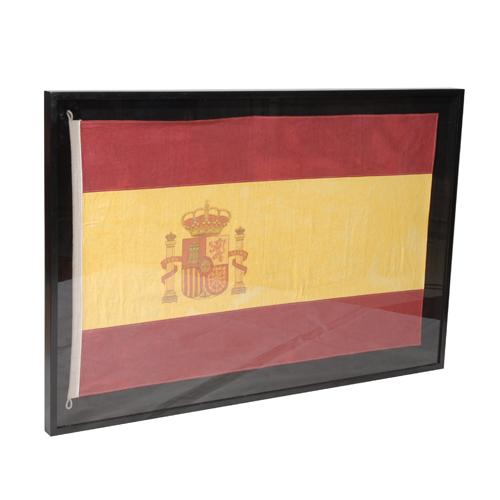 Lot 49 - Flag Medium Shadow Box Spain 150 X 6 X 90cm