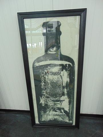 Lot 55 - Graphics Copper Bottle 3 Black Wood 59 X 3 X 130.5cm