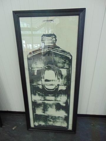 Lot 56 - Graphics Copper Bottle 2 Black Wood 59 X 3 X 130.5cm