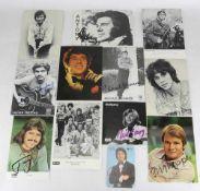 12 Autogrammkarten. U.a. Les Humphries Singers, Mon Thys, Michale Holm, Hellmut Lange, Costa