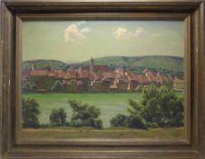 Hermann Wolff *1893 War tätig in Muggenbrunn im Schwarzwald. Blick auf Rheinfelden über der Rhein
