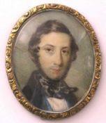 Portraitminiatur. Russland, St. Petersburg frühes 19. Jahrhundert. Brustportrait eines russischen