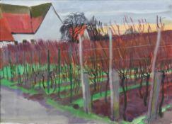 Friedrich, Heinz *1924. Ohne Titel (Reben bei Haus). Unten rechts signiert und datiert (19)93. Größe