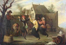 Teniers, David II 1610-1690 Nachfolger. Oder Umkreis. Typisch flämisches Tanzvergnügen vor der