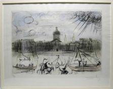 Dali, Salvador 1904-1989. Fra Venedig. Farblithographie auf Bütten. Unten rechts signiert, links