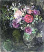 D´Espagnat, Georges 1870-1950 attr. Blumenstillleben. Öl auf Leinwand. Unten rechts monogrammiert.