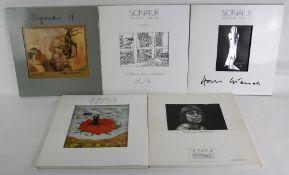Konvolut von 5 x Signatur. Zeit, Schrift, Bild Objekt Nummern 1, 4, 8, 11, 16. Arik Brauer, Horst