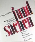 Drei Originalgrafiken. Edition Brucknerweg 9, 1985. Kurt Hafner als Herausgeber mit Vorwort von