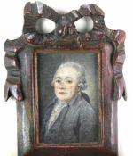 Daffinger, Moritz Michael 1790-1849 attr. Portrait des Immanuel Kant. Miniatur in Mischtechnik.