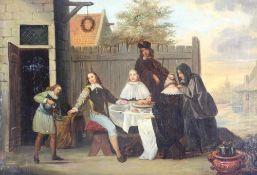 Teniers, David II 1610-1690 Nachfolger. Oder Umkreis. Typisch flämische Genreszene vor der