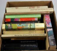 Konvolut Bücher. 16 Bücher zu kunsthistorischen Themen wie Russischer Realismus, Amerikanische Kunst