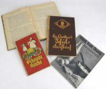 Konvolut Kochbücher. Deutsch nach 1900. Vier diverse. Altersbedingt guter Zustand.