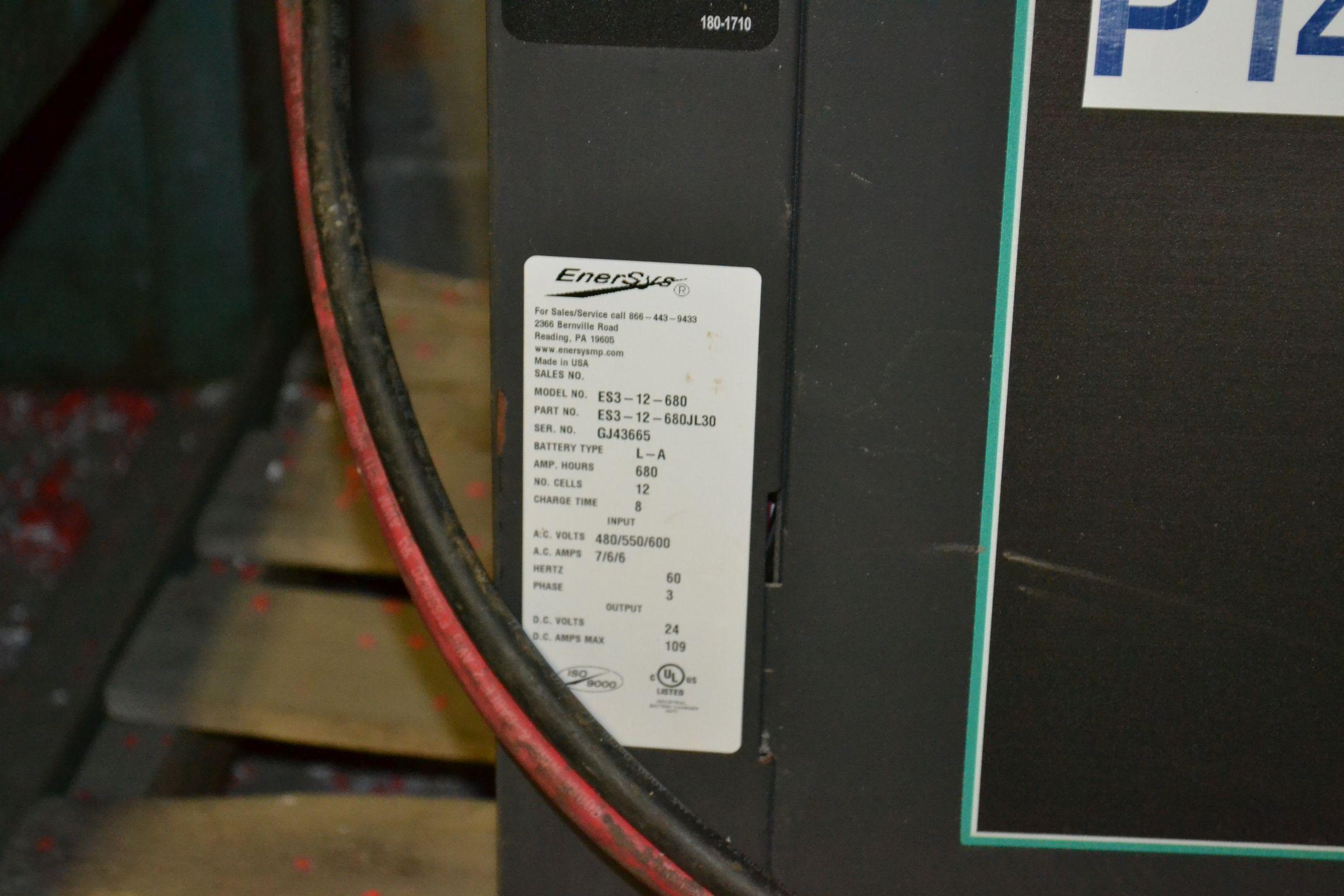 Lot 52 - EnForcer Forklift Battery Charger Model ES3-12-680, 24Volts, input 480/550/600