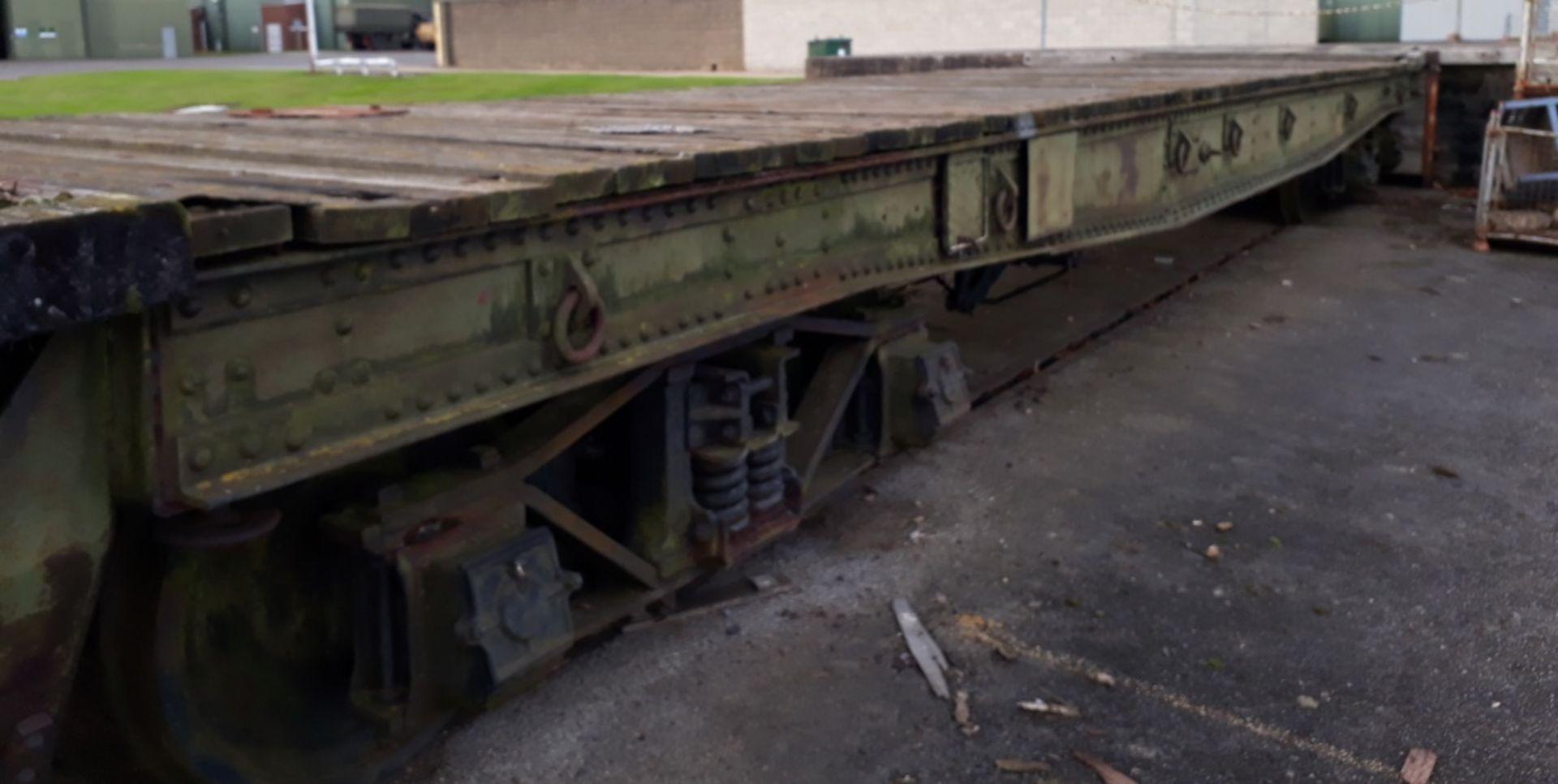 Warflat rail wagon, Built by Metropolitan – Cammell Carriage & Wagon Co Ltd Birmingham 194 - Image 4 of 13