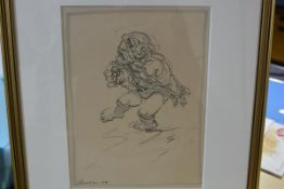 "Peter Howson OBE (Scottish, b. 1958), ""Wee Harry - Study of a Beggar"", signed lower left and"