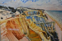 "Derek Clarke A.R.S.A, R.S.W. (Scottish, 1912-2015), ""Cliffs in Spain"", signed lower left and dated"