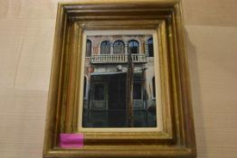 "Angus McEwan R.S.W., ""Antique Dealers, Venice"", oil on canvas, monogrammed, framed, Open Eye Gallery"