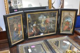 After Hans Memling, The Adoration of the Magi, three chromolithographs, mounted as a triptych in