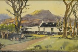 James Miller R.S.A., R.S.W., (Scottish 1893-1987), The White Cottage, signed, watercolour, framed