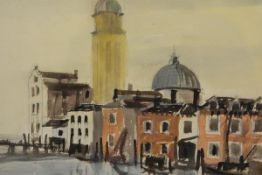 James Miller R.S.A., R.S.W., (Scottish 1893-1987), Venetian Canal Scene, signed twice,