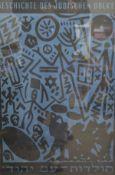 •A.R. Penck (German, b. 1939), Geschichte des Judischen Volkes, silkscreen print, signed in