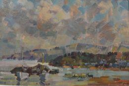 "John McCutcheon R.O.I. (Scottish, 1910-1995), ""Maidens"" (on the Ayrshire Coast), signed lower right,"