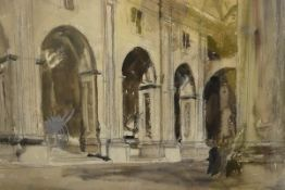James Miller R.S.A., R.S.W., (Scottish 1893-1987), Courtyard, Tarragona (Spain), signed, titled in