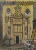 James Miller R.S.A., R.S.W., (Scottish 1893-1987), French Baroque Church, signed, titled in the